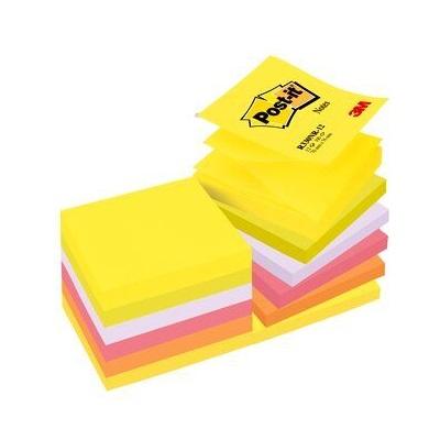 Post-it® Z-Notes R330N12, 76 x 76 mm, neongelb, neongrün, neonlila, neonorange, neonpink, 12 Blöcke à 100 Blatt