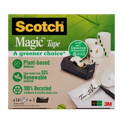 Scotch® Abroller schw. + Scotch® Magic™ Klebeband A Gr. Ch., 14 R., 19 mm x 33 m
