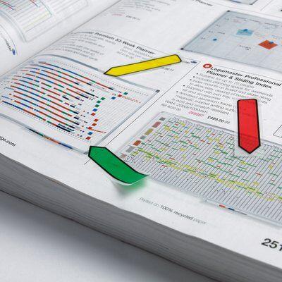 Post-it® Index Pfeile 684ARR1, 11,9 x 43,2 mm, blau, gelb, grün, lila, rot, 5 x 20 Haftstreifen
