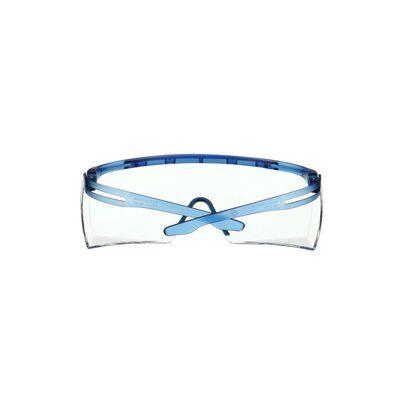 3M™ SecureFit™ 3700 Überbrille, blaue Bügel, Scotchgard™ Anti-Beschlag Beschichtung (K&N), transparente Scheibe, winkelverstellbar, SF3701SGAF-BLU-EU