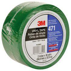 3M™ 471 Hochwertiges Weich-PVC-Klebeband, 50 mm x 33 m, Grün