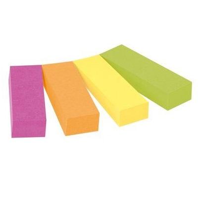 Post-it® Page Marker 670-4CA, 12,7 x 44,4 mm, neongrün, neonorange, ultragelb, ultrapink,  4 x 50 Blatt