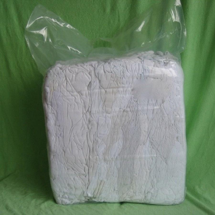 Putzlappen / Reinigungslappen TRIKOT weiss DIN 61650 gewaschen 10 kg Ballen