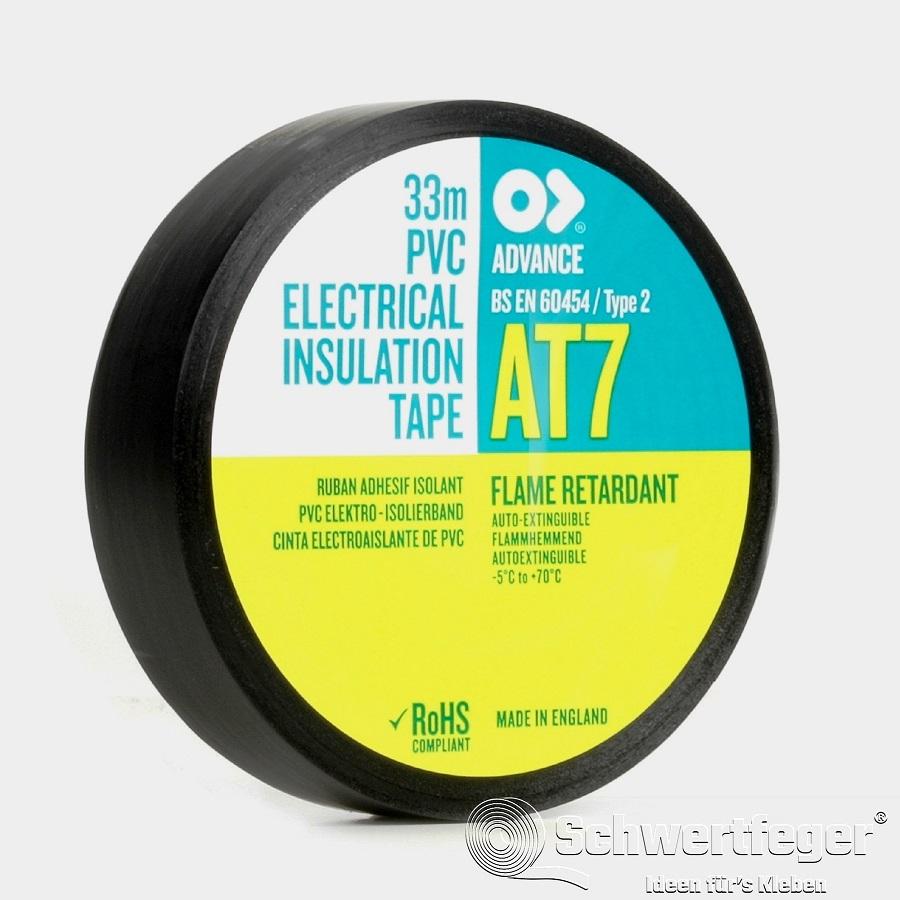 SPADA AT 7 Elektro-Isolierband aus Weich-PVC schwarz 25 mm x 33 m