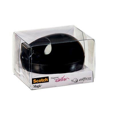 Scotch® Abroller von Karim Rashid schwarz + 1 Rolle Scotch® Magic™ Klebeband 19 mm x 7,5 m