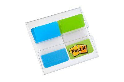 Post-it® Index Strong 686-AL, 25,4 x 43,2 mm, türkis, limonengrün, 2 x 8 Haftstreifen