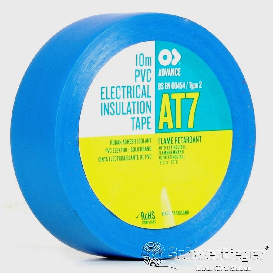 SPADA AT 7 Elektro-Isolierband aus Weich-PVC blau 15 mm x 10 m