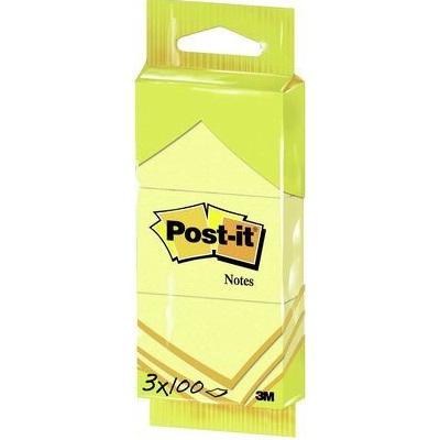 Post-it® Notes 6810GB, 38 x 51 mm, gelb, 3 Blöcke à 100 Blatt