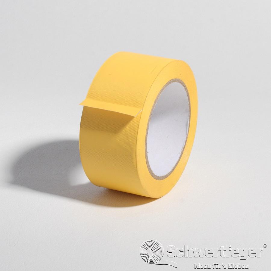 SPADA 722 Abdeckklebeband  quergerillt gelb 50 mm x 33 m