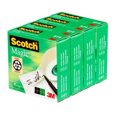3M Scotch Magic Tape 810 19 mm x 33 m - 4 Rollen Sets