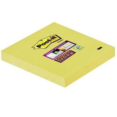Post-it® Super Sticky Notes 6546SY, 76 x 76 mm, gelb, 1 Block à 90 Blatt