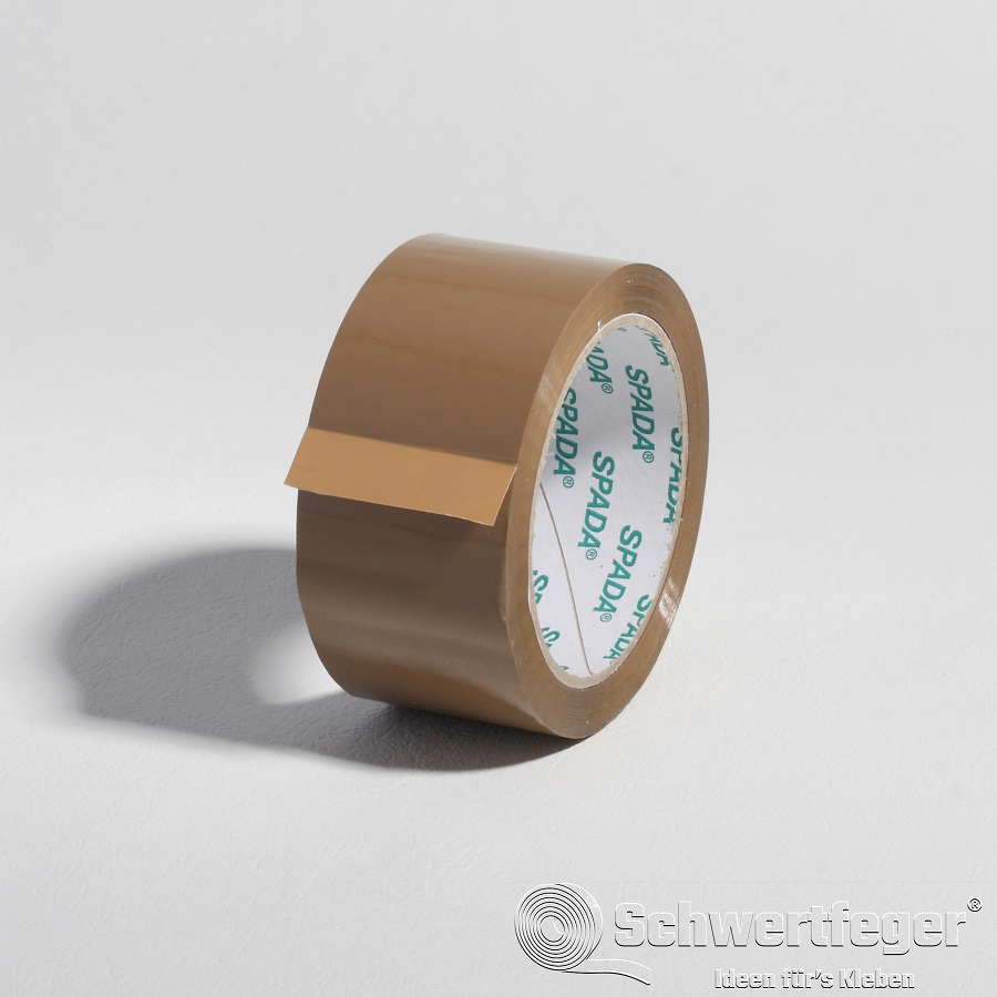 PP Packband SPADA® Acrylatkleber leise braun 50 mm x 66 m