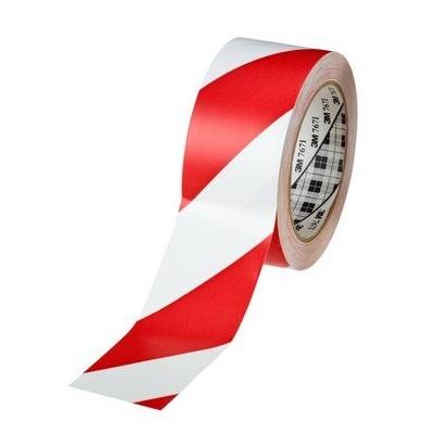 3M Absperrband Warnband Allzweck-Weich-PVC-Tape 767 i rot weiss schraffiert 50 mm x 33 m