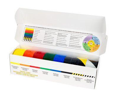 3M™ PVC-Klebeband 5S-Farbkodierungs-Starterpaket - 8 Rollen á 50,8 mm x 33 m lang