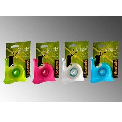 Scotch® Schnecke Handabroller verschiedene Modelle (blau, weiß, grün oder pink) + 1 Rolle Scotch® Magic™ Klebeband 19 mm x 33 m