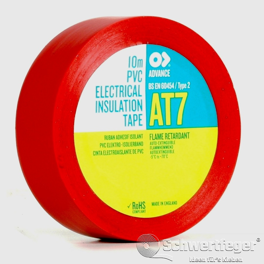 SPADA AT 7 Elektro-Isolierband aus Weich-PVC rot 15 mm x 10 m