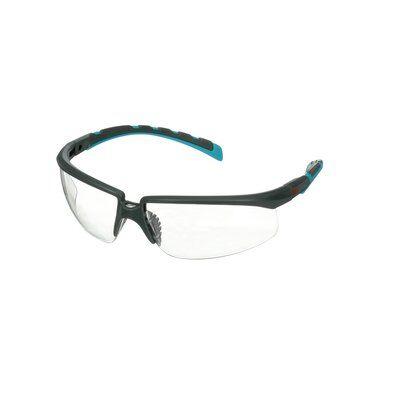 3M™ Solus™ 2000 Schutzbrille, grau/türkisfarbene Bügel, Scotchgard™ Anti-Beschlag Beschichtung (K&N), klare Scheibe, winkelverstellbar, S2001SGAF-BGR-EU