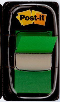Post-it® Index I680-3, 25,4 x 43,2 mm, grün, 1 x 50 Haftstreifen im Spender