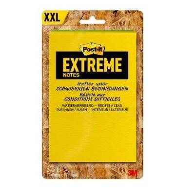 Post-it® Extreme Notes, 114 x 171 mm, 2er Pack in den Farben gelb/grün oder orange/grün, im Mischkarton