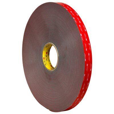 3M VHB 4991 Hochleistungs-Klebeband, 19 mm x 5.5 m, Grau, 2.3 mm