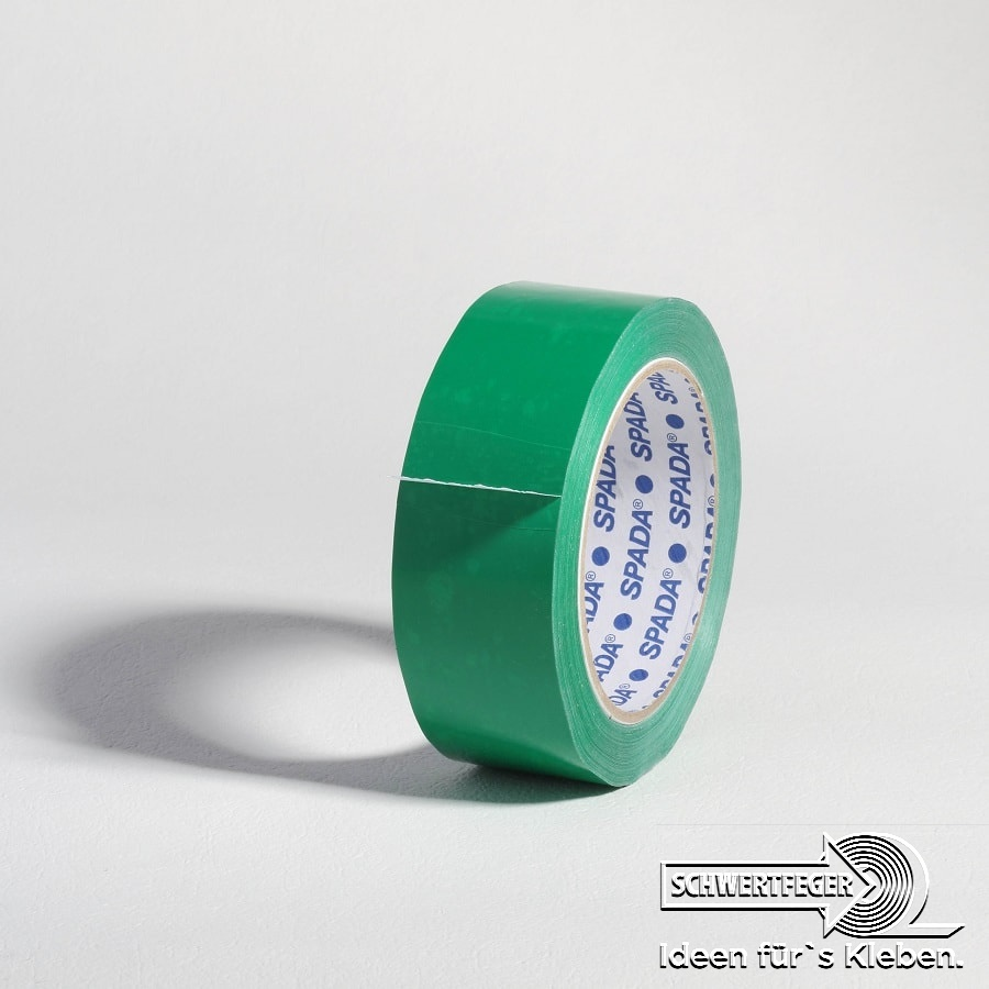 PVC Packband SPADA® 500 mit Naturkautschukkleber grün 38 mm x 66 m