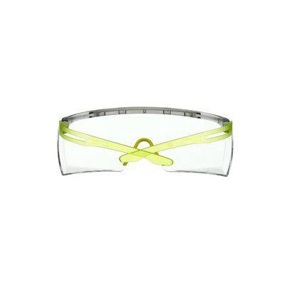 3M™ SecureFit™ 3700 Überbrille, lindgrüne Bügel, Scotchgard™ Anti-Beschlag Beschichtung (K&N), transparente Scheibe, winkelverstellbar, SF3701SGAF-GRN-EU