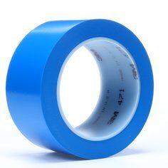 3M™ 471 Hochwertiges Weich-PVC-Klebeband, 38 mm x 33 m, Blau