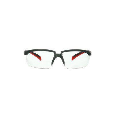 3M™ Solus™ 2000 Schutzbrille, grau/rote Bügel, Scotchgard™ Anti-Beschlag Beschichtung (K&N), klare Scheibe, winkelverstellbar, S2001SGAF-RED-EU