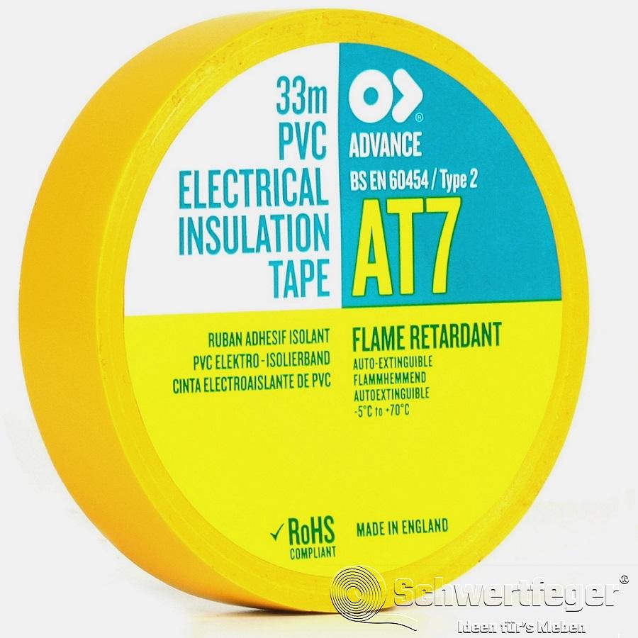 SPADA AT 7 Elektro-Isolierband aus Weich-PVC gelb 75 mm x 33 m