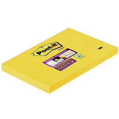 Post-it® Super Sticky Notes 655-S, 127 x 76 mm, narzissengelb, 1 Block à 90 Blatt