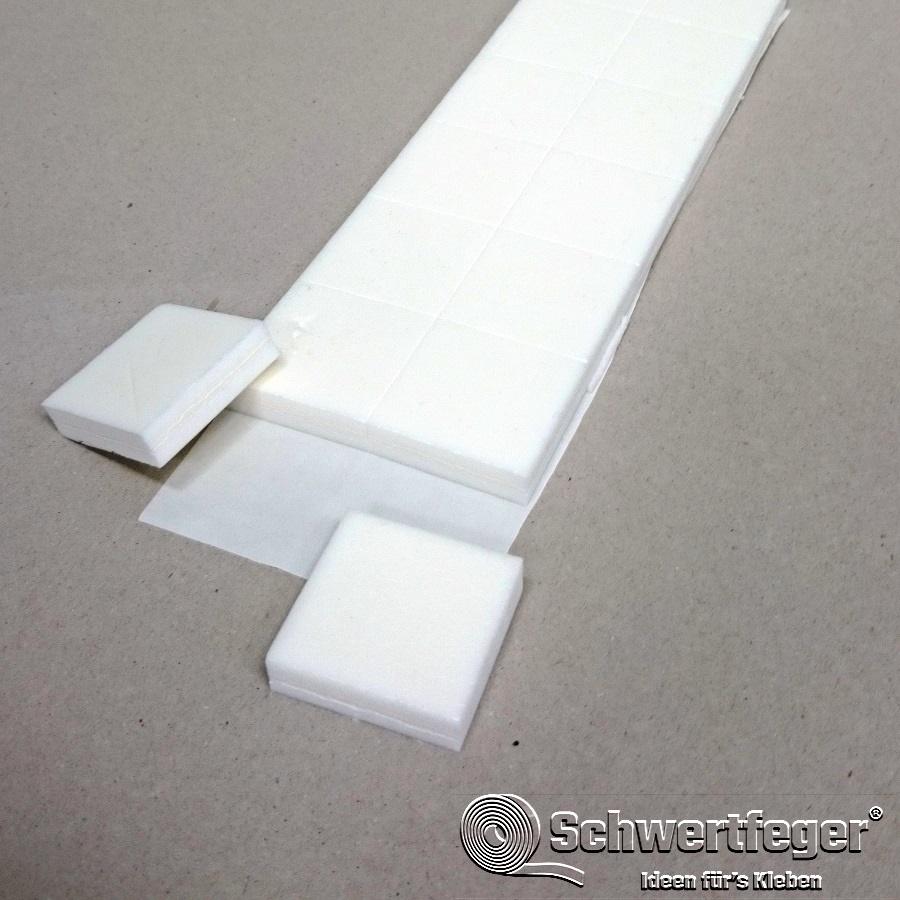 PE-Schaumstoff-Zuschnitte L-1680 klebend 40 x 40 x 10 mm - 2.100 Stück