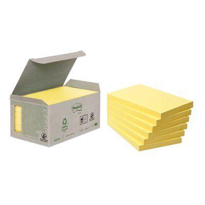 Post-it® Recycling Notes 6551B, 127 x 76 mm, gelb, 6 Blöcke à 100 Blatt