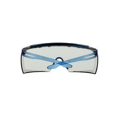 3M™ SecureFit™ 3700 Überbrille, blaue Bügel, integrierter Augenbrauenschutz, Scotchgard™ Anti-Beschlag Beschichtung (K&N), graue Scheibe für Innen-/Außenbereich, SF3707XSGAF-BLU-EU