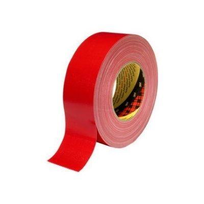 3M™ Gewebeklebeband 389, rot, 50 mm x 50 m