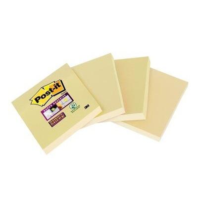 Post-it® Super Sticky Notes 6910CY, 4 Blöcke à 45 Blatt, gelb, 48 x 48 mm, hakenfähig, PEFC zertifiziert