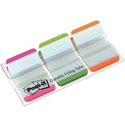Post-it® Index Strong 686L-PGO, 25,4 x 38 mm, grün, orange, pink, 3 x 22 Haftstreifen im Etui