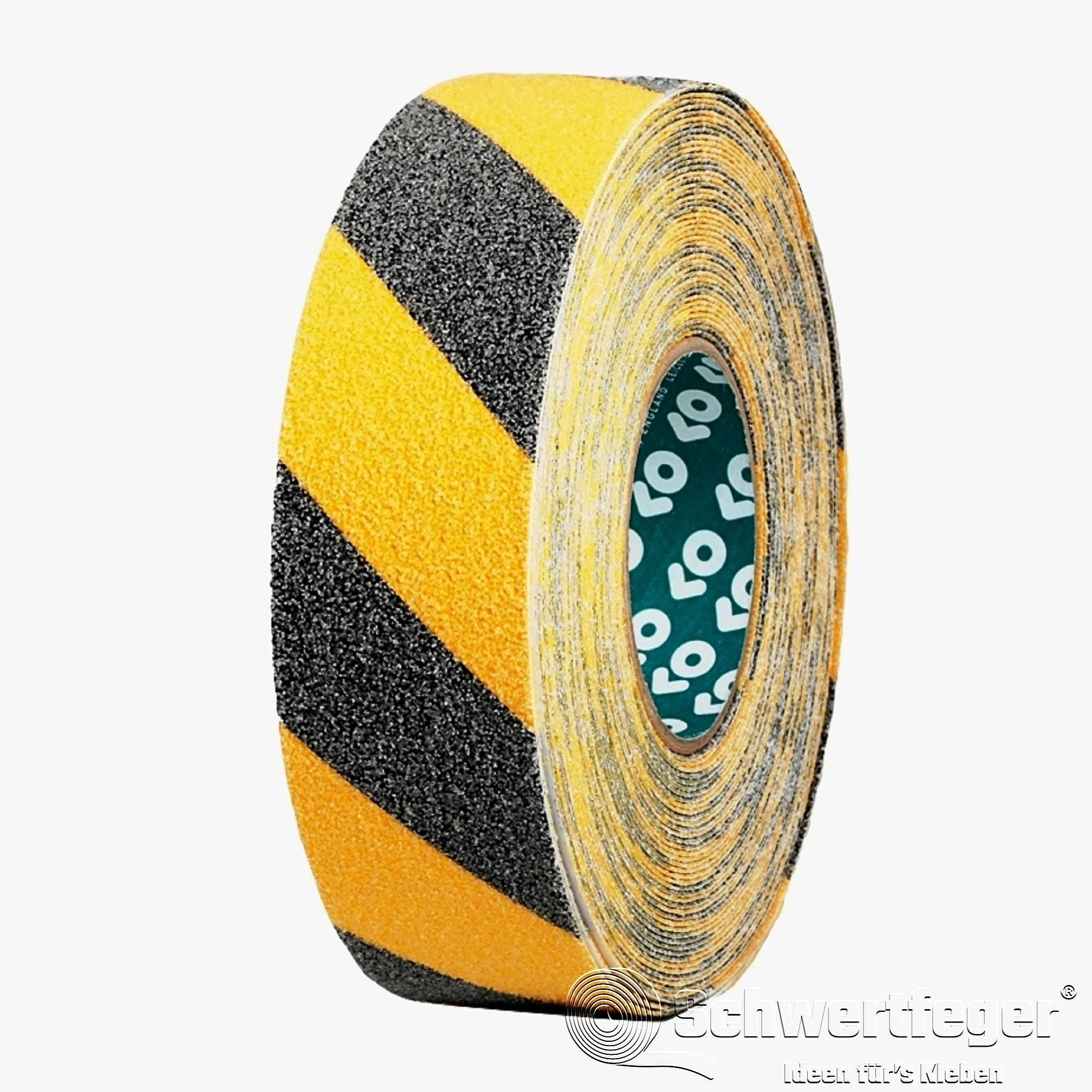 Antirutsch-Band SPADA® AT-2000 gelb / schwarz schraffiert 50 mm x 18 m