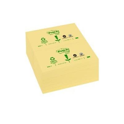 Post-it® Recycling Notes 6551GE, 127 x 76 mm, gelb, 1 Block à 100 Blatt