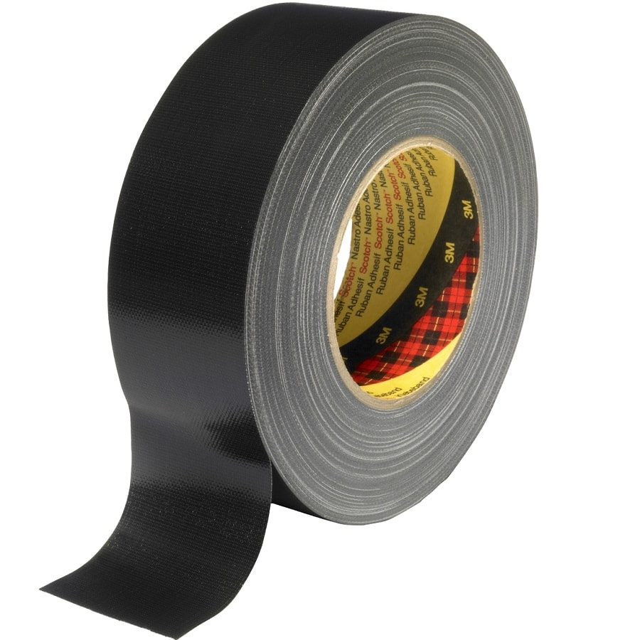 3M 389 Gewebeklebeband schwarz 25 mm x 50 m