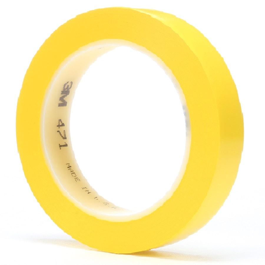 3M 471 Weich-PVC-Klebeband gelb 76 mm x 33 m