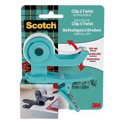 Scotch® Klebeband-Abroller, türkis + 1 R. Scotch® Magic™ Klebeb., 19 mm x 8,89 m