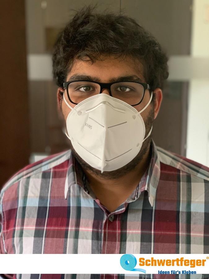 Atemschutzmasken KN95 Gesichtsmaske ohne Ventil mit Nasenbügel Mundschutz Maske