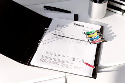 Post-it® Index Pfeile 684ARR3, 11,9 x 43,2 mm, blau, gelb, grün, rot, 4 x 24 Haftstreifen im Spender