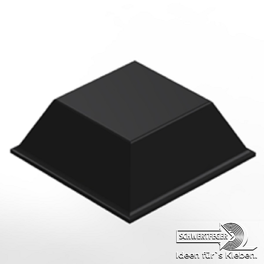 3M SJ 5008 Elastikpuffer schwarz Breite 12,7 mm Dicke 3,1 mm