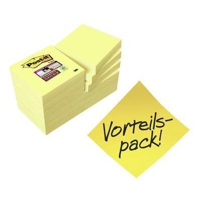 Post-it® Super Sticky Notes  622SY9+3, 48 x 48 mm, gelb, 12 Blöcke à 90 Blatt