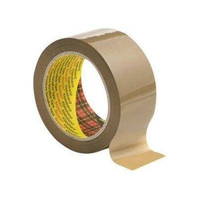 3M™ 3707 PP Verpackungsband geräuscharm, 50mm x 66m, Braun