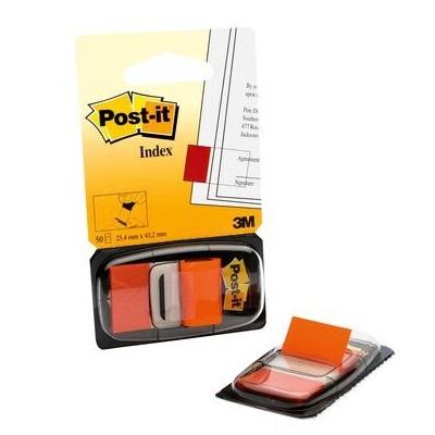 Post-it® Index I680-23, 25,4 x 43,2 mm, orange, 1 x 50 Haftstreifen im Spender