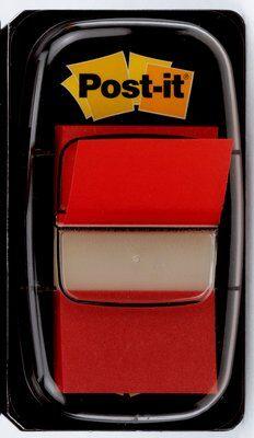 Post-it® Index I680-1, 25,4 x 43,2 mm, rot, 1 x 50 Haftstreifen im Spender