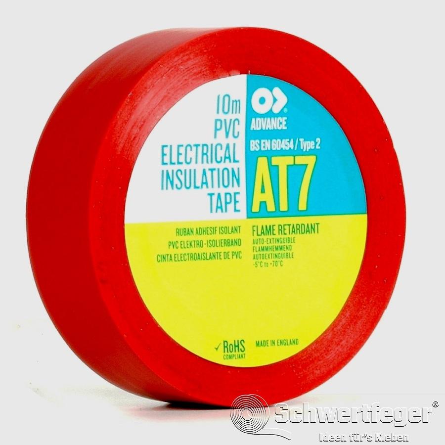 SPADA AT 7 Elektro-Isolierband aus Weich-PVC rot 19 mm x 33 m