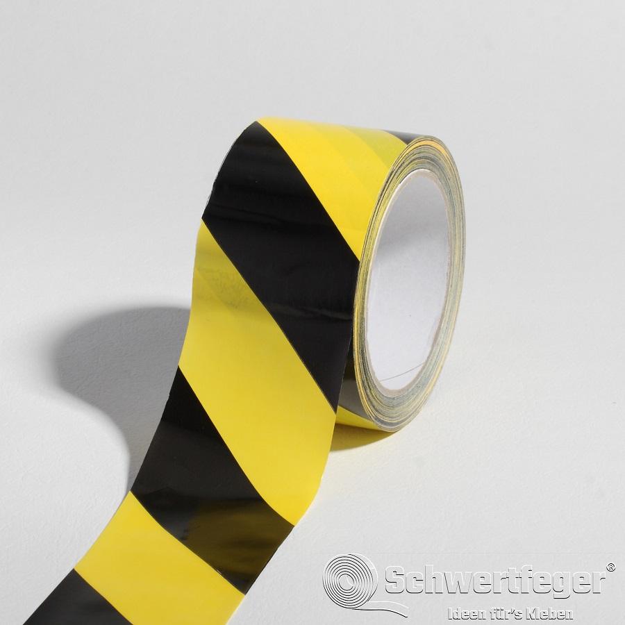 SPADA® PVC Gefahrenmarkierungsband gelb / schwarz 60 mm x 66 m